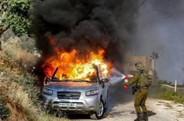 نابلس: مداهمات واعتقال شاب ومصادرة السيارة المحترقة من عقربا