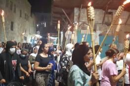 عكا: مسيرة مشاعل تضامنا مع معتقلي الهبّة الشعبية