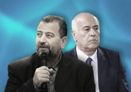 الرجوب والعاروري خلال مؤتمر صحفي مشترك : سنجمد الخلافات لمواجهة الضم موحدين