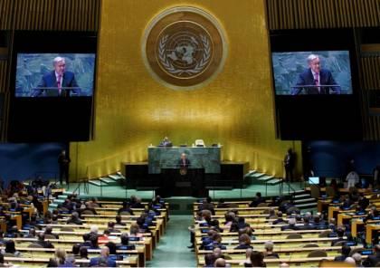 غوتيريش يؤكد أن حل الدولتين هو السبيل لتحقيق سلام عادل