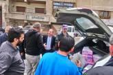 الدائرة السياسية للمنظمة توزع معقمات ومنظفات على أبناء شعبنا في قدسيا وصحنايا بريف دمشق