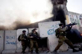 اصابة 5 جنود اسرائيليين في مواجهات مخيم قلنديا