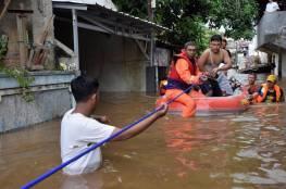 42 قتيلا على الأقل جراء فيضانات شرق أندونيسيا