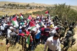 الاحتلال يقمع فعالية سلمية ضد الاستيطان في سفوح جبل عيبال شمال نابلس