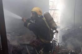 جنين: إخماد حريق بشقة سكنية