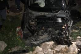 اصابة 6 مواطنين بجروح ما بين متوسطة وطفيفة في حادث سير شمال الخليل..صور