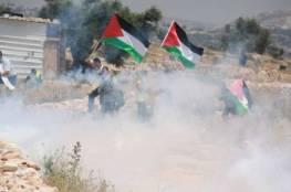 الاحتلال يقمع مسيرة كفر قدوم الاسبوعية المناهضة للجدار