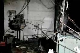 حريق يودي بحياة 16 مصابا بكورونا وممرضتين في أحد مستشفيات الهند (صور وفيديو)