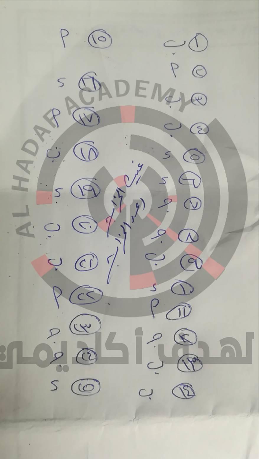 اجابة امتحان الرياضيات العلمي دراسات خاصة (3)