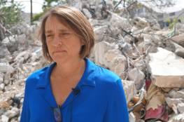 نائب المنسق الأممي لعملية السلام  لين هاستينغز تصل غزة