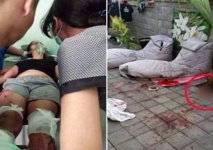 قام ببتر قدميها بسبب خيانتها !