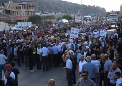تواصل التظاهرات الاحتجاجية لفلسطينيي الداخل ضد جرائم القتل