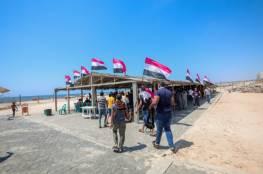 بلدية غزة تستضيف الوفد المصري في إحدى استراحاتها البحرية (شاهد)