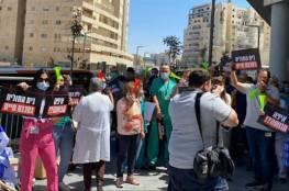 مئات الأطباء في إسرائيل يحتجون على الازمة المالية للمستشفيات