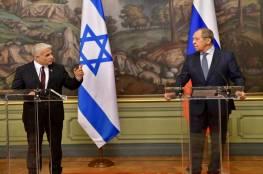 لبيد يلتقي لافروف ويبحث معه الملف الإيراني والعلاقات الثنائية