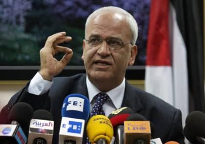 عريقات: التهديد بفرض عقوبات على الرئيس محمود عباس بلطجة وابتزاز