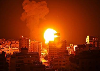 طائرات الاحتلال تشن سلسلة غارات عنيفة على مدينة غزة (شاهد)
