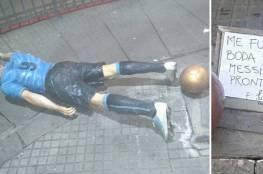 تخريب تمثال العضاض في الأوروغواي!