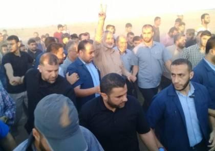 شاهد : لحظة استهداف اسماعيل هنية بقنابل الغاز شرق غزة