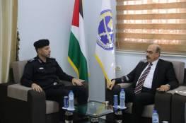 مدير عام الشرطة بغزة يستقبل وفدًا من رئاسة جامعة الأزهر