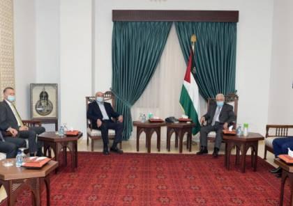 الرئيس عباس يستقبل رجل الأعمال صبيح المصري