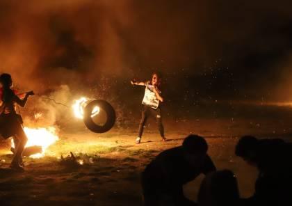 صور.. اصابات بينها حرجة خلال قمع الاحتلال لفعاليات الارباك الليلي