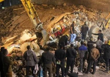 مصرع 4 أشخاص وإصابة آخرين بانهيار مبنى سكني في القاهرة
