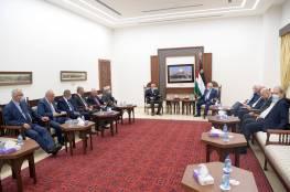 تفاصيل اجتماع الرئيس مع وفد النوايا الحسنة لإنهاء الانقسام