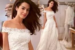 أمل كلوني تتخلى عن فستان زفافها الرائع!