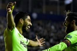 فيديو.. ميسي يتعملق ويقود برشلونة لاكتساح ليفانتي بخماسية