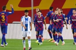 فيديو.. برشلونة يضغط على الريال ويهزم إسبانيول ويرسله للدرجة الثانية