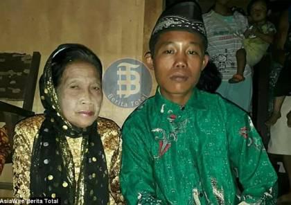 هدّدا بالإنتحار ..صور: فتى اندونيسيّ يتزوج مُسنة (71عاماً) بعد وقوعه في حبها!