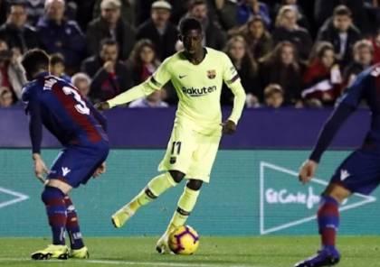 ليفانتي يُفاجىء برشلونة ويُسقطه في كأس إسبانيا