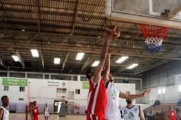 فوزان لخدمات البريج ورفح بدوري السلة
