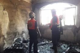 الدفاع المدني يخمد حريقا بمنزل شرق خانيونس