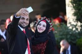 برعاية وحضور الرئيس .. صور: عرس وطني جماعي لمئات العرسان في رام الله