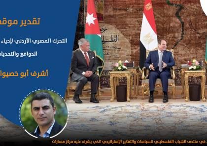 التحرك المصري الأردني لإحياء عملية التسوية … الدوافع والتحديات..
