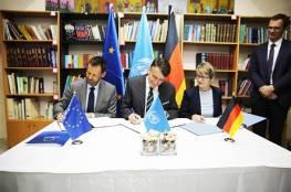 القدس: الاتحاد الأوروبي وألمانيا يوقعان اتفاقيات حيوية بمبلغ 80 مليون $  للأونروا