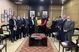 غنام تلتقي رئيس وأعضاء الهيئة الإدارية لجمعية أبناء عموم محافظة نابلس الخيرية