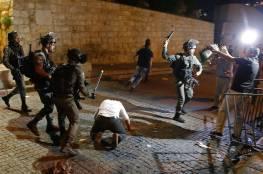 الاحتلال يعتدي على المصلين قرب باب الأسباط بالقدس المحتلة