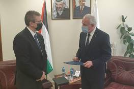 المالكي يتسلم أوراق اعتماد القنصل اليوناني لدى فلسطين