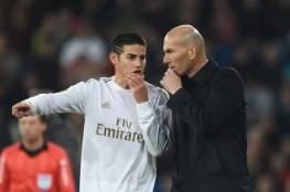 زيدان يلمح إلى رحيل خاميس عن ريال مدريد