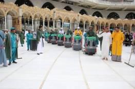 السعودية: تعقيم الحرم المكي 4 مرات يومياً لسلامة قاصديه
