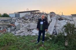 جرافات الاحتلال تهدم منزلاً في الطيرة