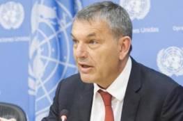 """لازاريني: """"أونروا"""" بحاجة لأكثر من مليار دولار للعام 2021 لإدارة خدماتها في فلسطين وسوريا"""