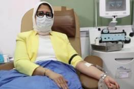 وزيرة الصحة المصرية: عانيت من ارتفاع درجة الحرارة لـ ٣ أيام بعد تلقي الجرعة الأولى من لقاح كورونا