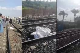 تفاصيل دهس 3 شباب أسفل عجلات قطار في مصر