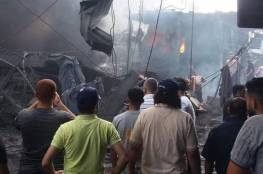 صور: شهيد وعدة إصابات جراء انفجار عنيف قرب سوق الزاوية بمدينة غزة