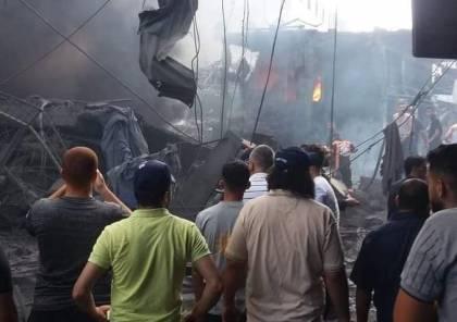 صور: شهيد وعدة إصابات جراء انفجار عنيف قرب سوق الزاوية بمدينة غزة - سما  الإخبارية