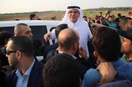 السفير القطري محمد العمادي يصل قطاع غزة عبر معبر بيت حانون/إيرز